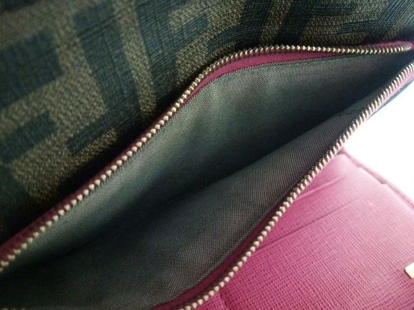 FENDI(フェンディ) 長財布 ズッカ柄 8M0326 ブラウン×黒×ピンク 4