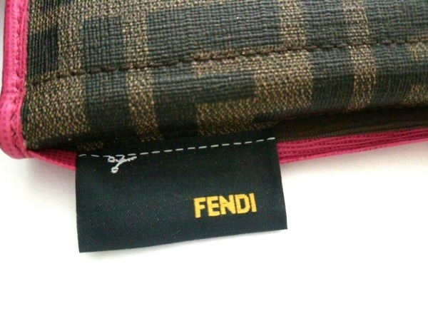FENDI(フェンディ) 長財布 ズッカ柄 8M0326 ブラウン×黒×ピンク 5