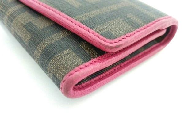 FENDI(フェンディ) 長財布 ズッカ柄 8M0326 ブラウン×黒×ピンク 6