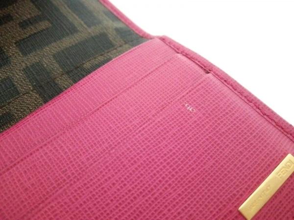 FENDI(フェンディ) 長財布 ズッカ柄 8M0326 ブラウン×黒×ピンク 7