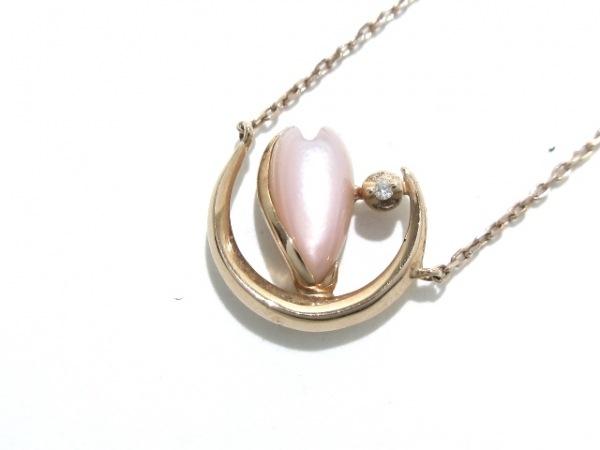 スタージュエリー ネックレス美品  K10PG×カラーストーン×ダイヤモンド ピンク