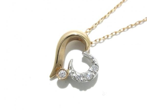 STAR JEWELRY(スタージュエリー) ネックレス美品  K18PG×K18WG×ダイヤモンド