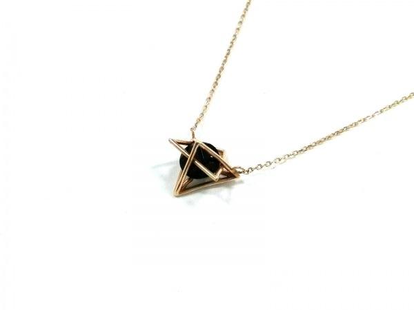 STAR JEWELRY(スタージュエリー) ネックレス美品  K10YG×カラーストーン 黒