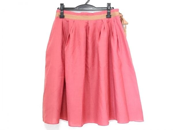 Hug O War(ハグオーワー) スカート レディース美品  レッド×ブラウン