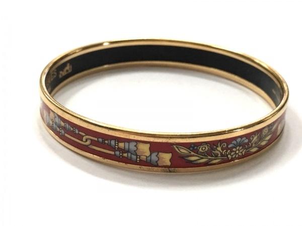 HERMES(エルメス) バングル美品  エマイユ 金属素材 レッド×ゴールド×マルチ