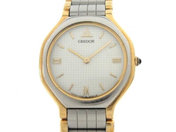 SEIKO CREDOR(セイコークレドール) 腕時計 4N70-0012 レディース SS×18KT 白