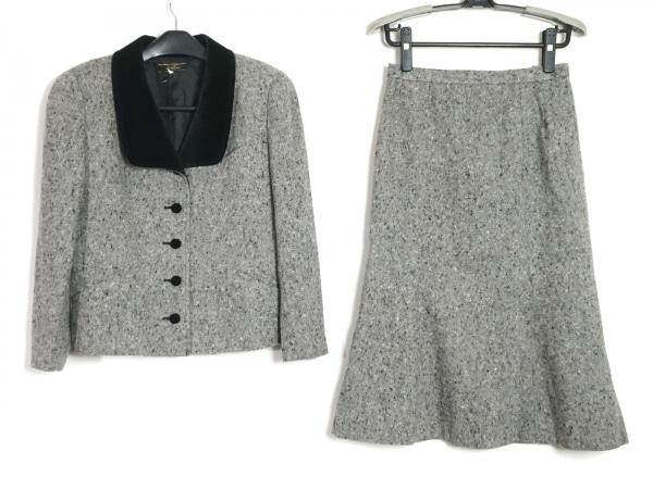 Leilian(レリアン) スカートスーツ サイズ9 M レディース新品同様  グレー×黒