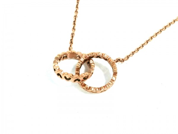 FolliFollie(フォリフォリ) ネックレス美品  金属素材 ピンクゴールド ハート