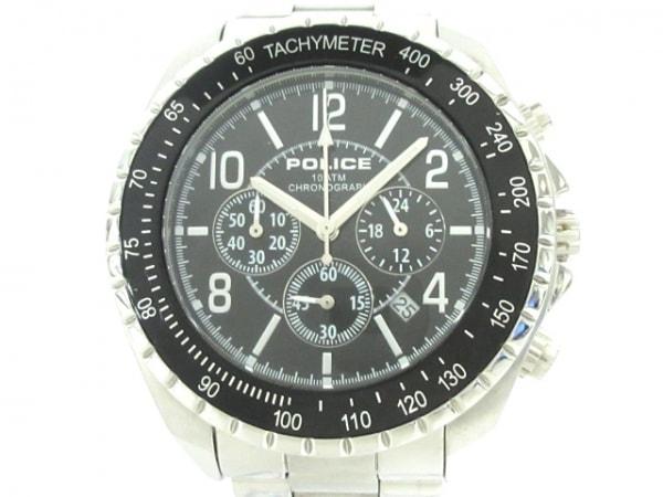 POLICE(ポリス) 腕時計 12545J メンズ クロノグラフ 黒