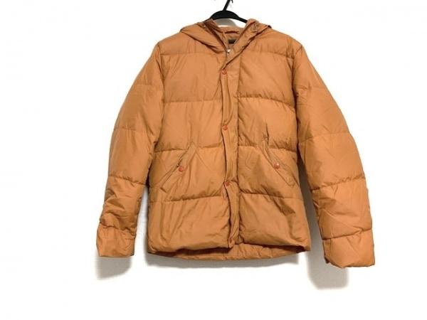 SHIPS(シップス) ダウンジャケット サイズL メンズ美品  オレンジ 冬物/ジップアップ