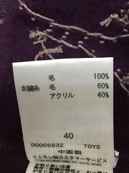 ホコモモラ ワンピース サイズ40 XL レディース パープル×マルチ 刺繍/フラワー