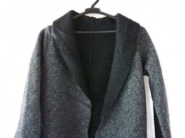 mizuiro  ind(ミズイロインド) コート メンズ 黒×ダークグレー リバーシブル/冬物
