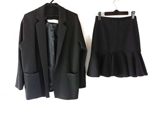 ブラックバイマウジー スカートスーツ サイズ2 M レディース 黒 フリル