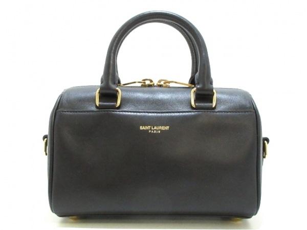 サンローランパリ ハンドバッグ美品  ダッフルトイ 340238 黒 レザー