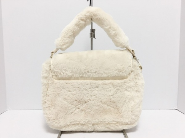 Maison de FLEUR(メゾンドフルール) ハンドバッグ美品  ベージュ リボン