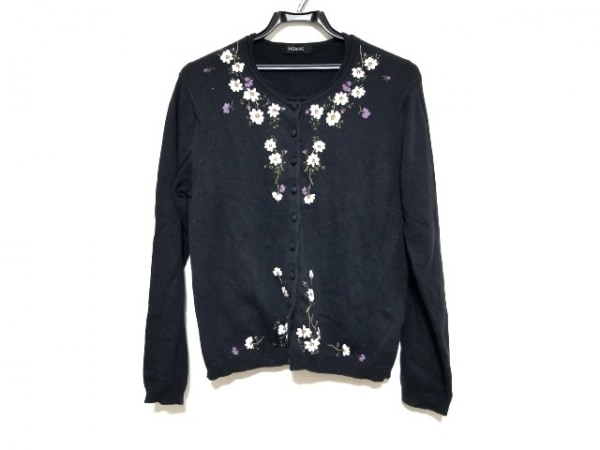 INGEBORG(インゲボルグ) アンサンブル レディース美品  黒×白×マルチ 花柄/刺繍