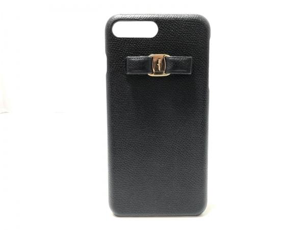 サルバトーレフェラガモ 携帯電話ケース ヴァラ 黒 iPhoneケース レザー