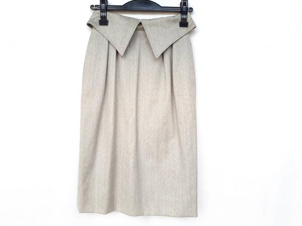 クリスチャンディオール スカート サイズS レディース美品  アイボリー×グレー