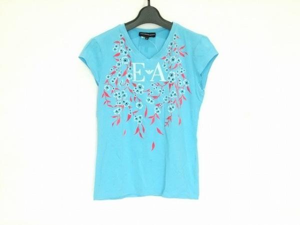 エンポリオアルマーニ 半袖Tシャツ サイズ42 M レディース ブルー×ピンク×マルチ