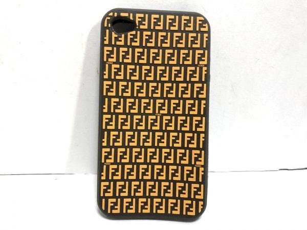 フェンディ 携帯電話ケース ズッキーノ - ダークブラウン×オレンジ iPhoneケース