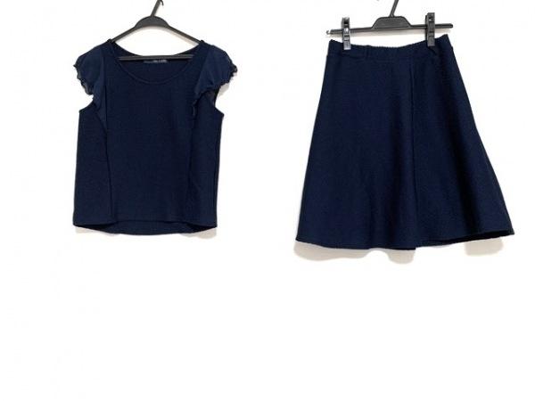 IENA SLOBE(イエナ スローブ) スカートセットアップ レディース美品  ネイビー フリル