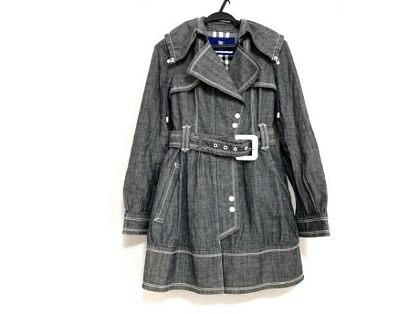 バーバリーブルーレーベル コート サイズ36 S レディース美品  グレー 春・秋物