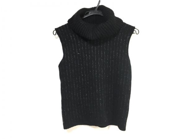 アルマーニコレッツォーニ ノースリーブセーター サイズ42 M レディース 黒×白