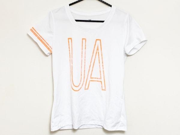 UNDER ARMOUR(アンダーアーマー) 半袖Tシャツ メンズ 白×オレンジ