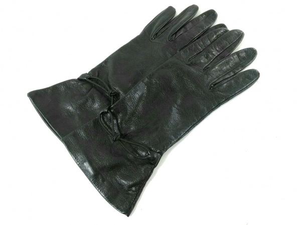 GIORGIOARMANI(ジョルジオアルマーニ) 手袋 XS レディース美品  黒 レザー