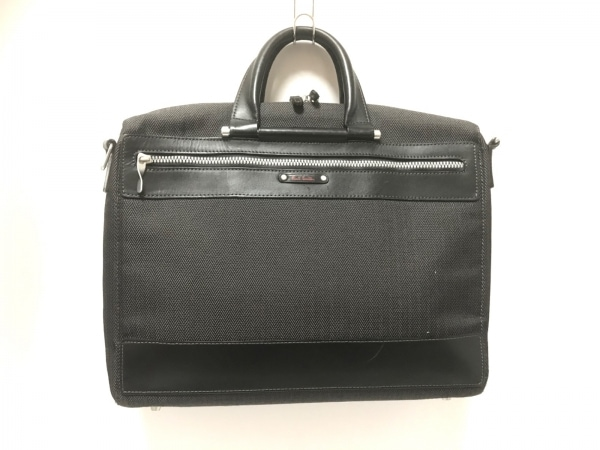 PaulSmith(ポールスミス) ビジネスバッグ 黒×グレー ジャガード×レザー