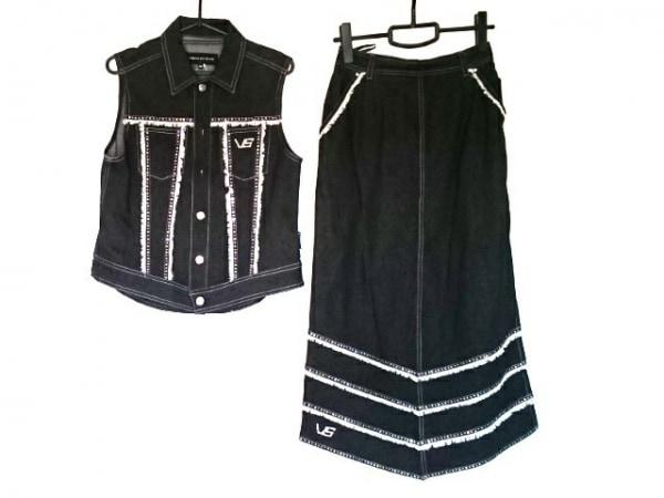 バレンザポースポーツ スカートセットアップ サイズ40 M レディース美品  黒×白
