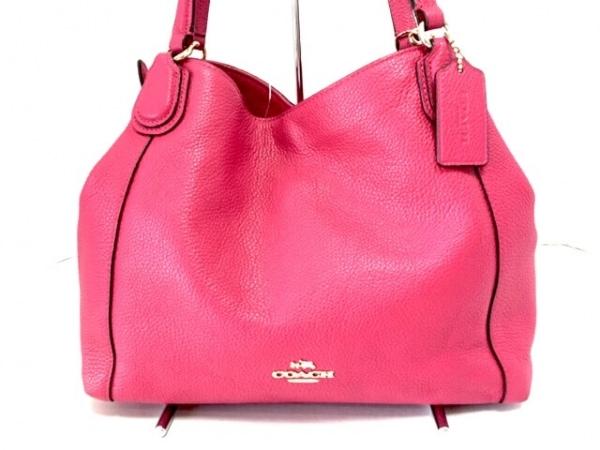 ピンク (コーチ) 【中古】 レザー ショルダーバッグ美品■ COACH - -