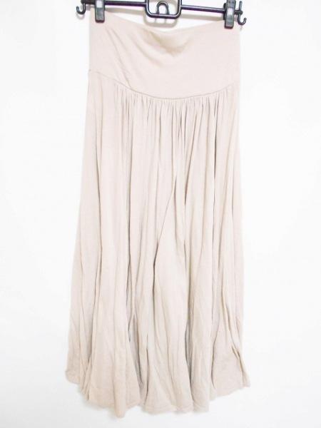 three dots(スリードッツ) ロングスカート サイズS レディース美品  アイボリー