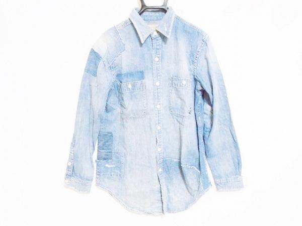 ポロラルフローレン 長袖シャツ サイズ160-84A メンズ美品  ライトブルー