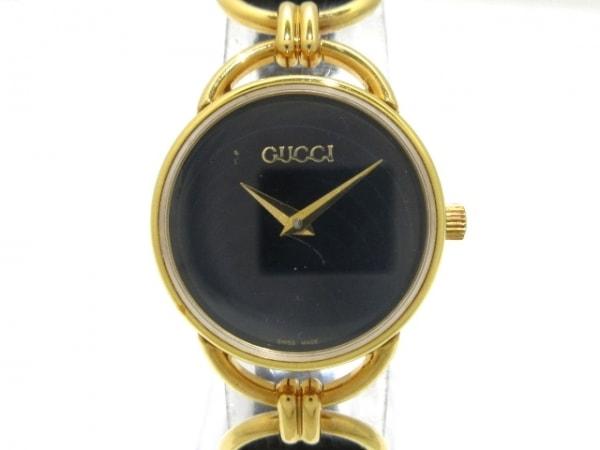 GUCCI(グッチ) 腕時計 6000.2.L レディース 革ベルト 黒