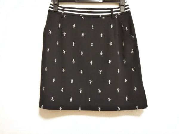 PICONE(ピッコーネ) ミニスカート サイズ40 M レディース美品  黒×グレー×白