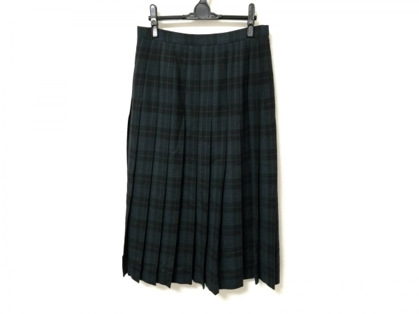 Burberry's(バーバリーズ) スカート レディース ネイビー×グリーン×黒 チェック柄