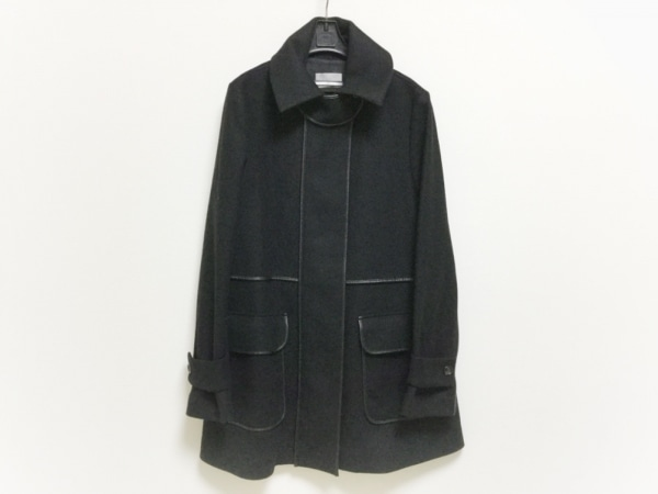 セオリーリュクス コート サイズ40 M レディース美品  黒 ジップアップ/冬物