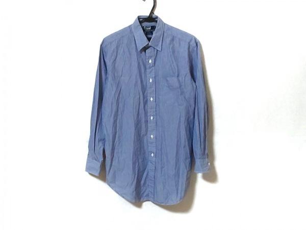 ポロラルフローレン 長袖シャツ サイズ40-84 メンズ ブルー ストライプ