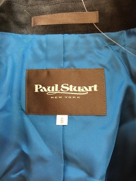 ポールスチュアート ジャケット サイズ6 M レディース ダークグレー ベロア