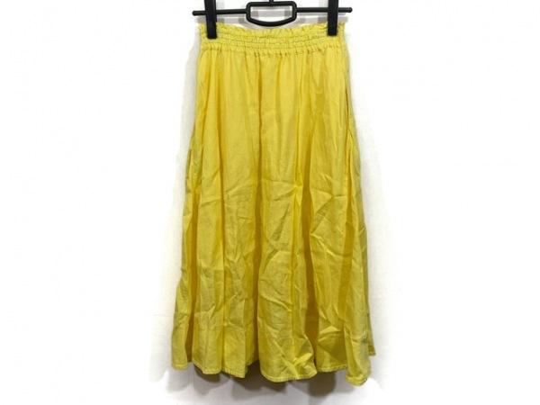 Mila Owen(ミラオーウェン) ロングスカート サイズ1 S レディース美品  イエロー