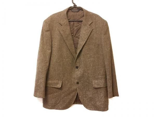 ブルックスブラザーズ ジャケット サイズ42 L メンズ ベージュ×ダークブラウン