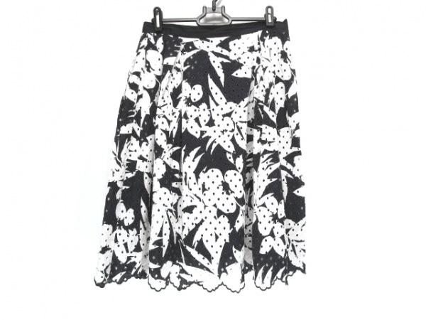 ダーマコレクション スカート サイズ64-91 レディース ネイビー×白 花柄