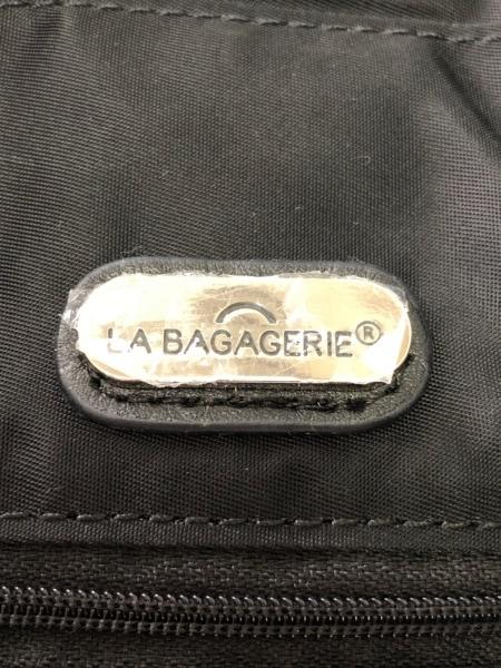 LA BAGAGERIE(ラバガジェリー) ショルダーバッグ 黒 ナイロン×レザー