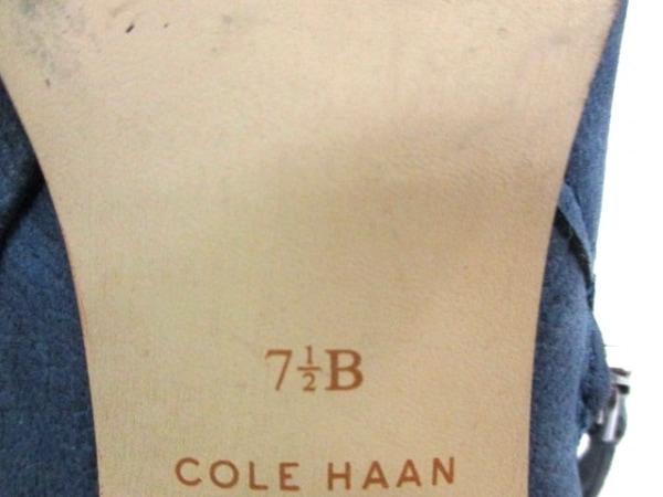 COLE HAAN(コールハーン) ブーティ 7 1/2 B レディース ネイビー レザー