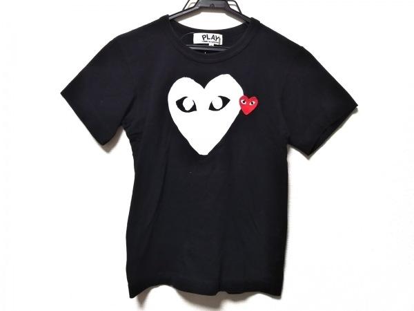 プレイコムデギャルソン 半袖Tシャツ サイズS レディース 黒×白×レッド ハート