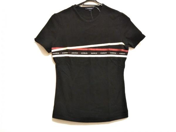 バーバリーロンドン 半袖Tシャツ サイズ1 S レディース 黒×ベージュ×マルチ