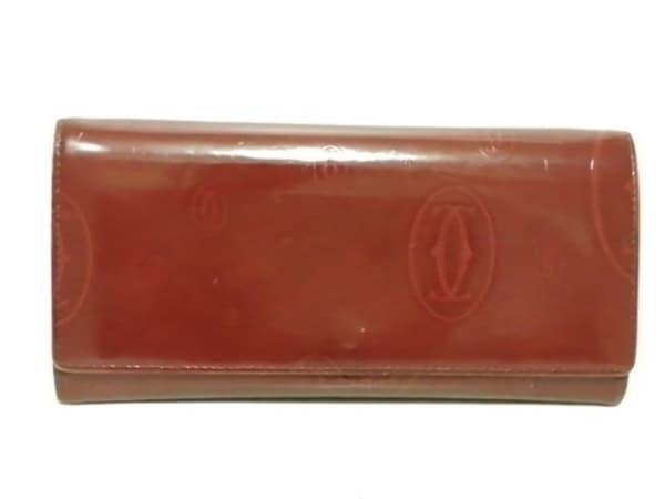 Cartier(カルティエ) 長財布 ハッピーバースデー レッド レザー 1