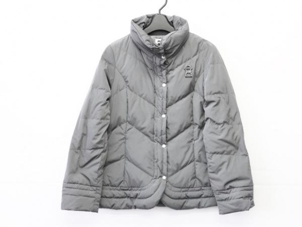ピッコーネ ダウンジャケット サイズ40 M レディース ダークグレー ジップアップ/冬物
