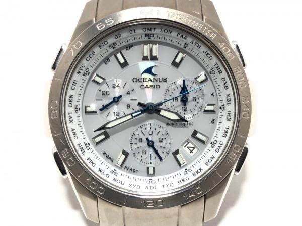 CASIO(カシオ) 腕時計 オシアナス OCW-600 メンズ クロノグラフ ライトグレー